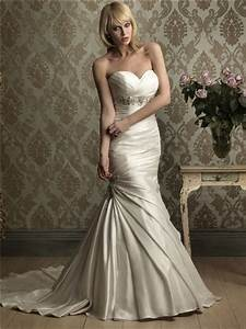 mermaid sweetheart empire waist ruched satin wedding dress With ruched mermaid wedding dress