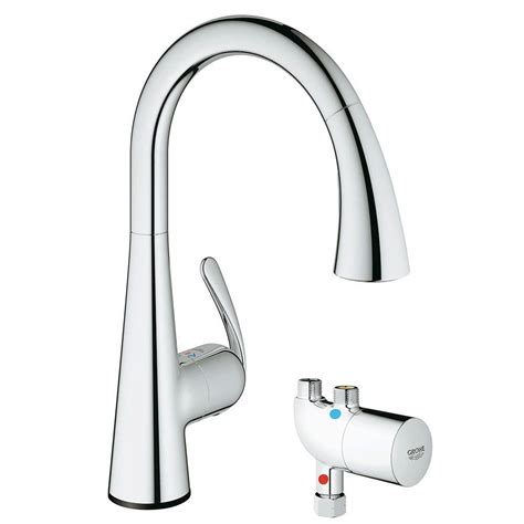 grohe ladylux kitchen faucet grohe ladylux cafe touch single handle pull down sprayer kitchen faucet with grohtherm micro in