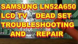 Samsung Lcd Ln52a650 No Dead Set Bn44