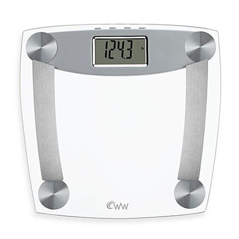 weight watchers  conair glass body analysis bathroom scale  muscle mass bed bath