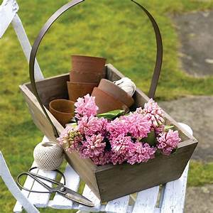 reclaimed wood garden trug by the orchard