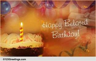 Belated Birthday Wish