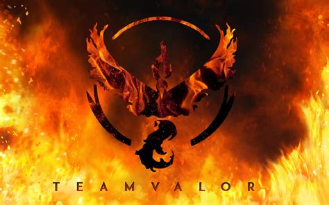 Pokemon Fire Red Wallpaper Red Team Valor Pokemon Go Wallpapers Hd 2016 High Resolution