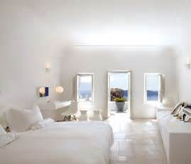 white home interiors santorini large white bedroom with balcony and view interior design ideas
