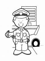 Police Coloring Officer Pages Printable Boys Activities Recommended Drawing Mycoloring Colorir sketch template