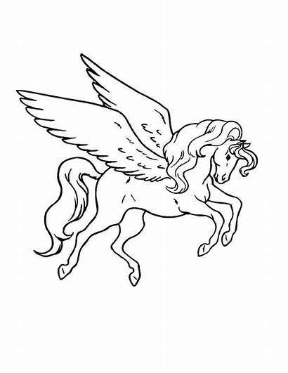 Coloring Pages Pegasus Greek Mythology Tattoo Myth