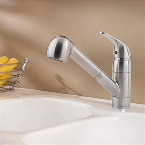 pfister pfirst series 1 handle pull out kitchen faucet
