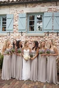 love the nude bridesmaid dresses weddingsabeautiful With nude color wedding dress