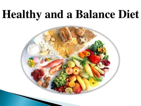healthy and a balance diet