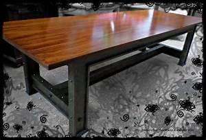 Pied De Table Industriel : grande table industrielle style pieds ipn ~ Dailycaller-alerts.com Idées de Décoration