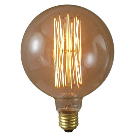 globe light bulbs 40 watt 125mm mega edison antique globe light bulb