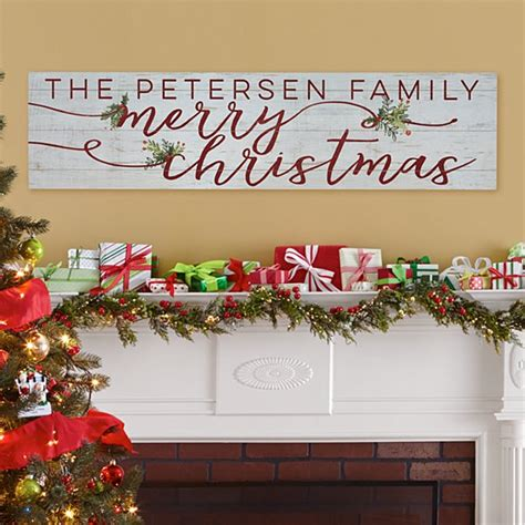 christmas wall decor xmas signs canvas art personal