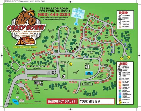 Site Map — Crazy Horse Family Campground