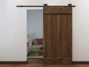 6ft dark coffee antique style barn wood steel sliding door With 6 foot barn door