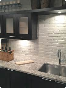 Painted Backsplash Ideas Kitchen Painted Brick Backsplash Possible Faux Brick Panels Painted White For The Home