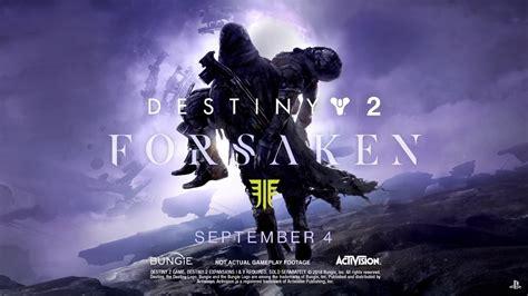 An awesome destiny 2 poster wallpaper of the game's major expansion, forsaken. Destiny 2 Forsaken Wallpaper : DestinyTheGame