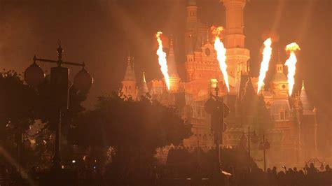 Disneyland Light Show by Shanghai Disneyland Light Show Castle