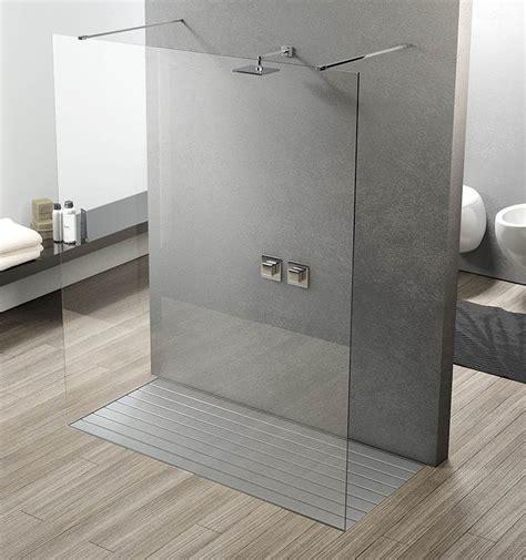 box doccia parete fissa unica su misura vetro cristallo