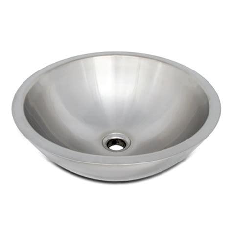 round stainless steel sink ticor s2095 vessel stainless steel round bathroom sink