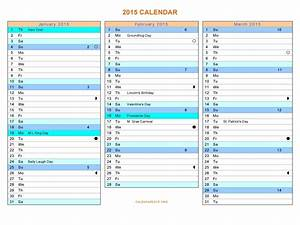 16 2015 word calendar template images 2015 monthly With three month calendar template word