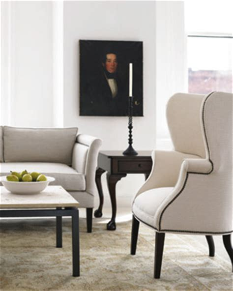 wingback chair traditional living room