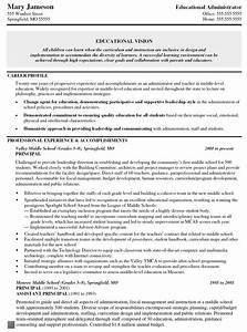 Objective Example On A Resumes Principal Middle School Resume Assistant Principal Vice