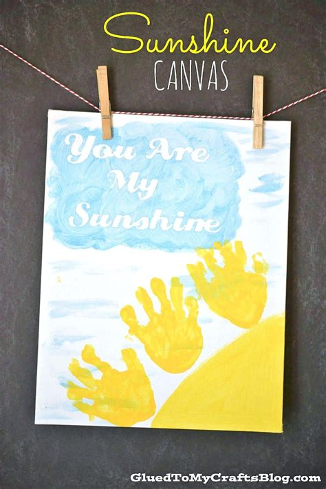 handprint sunshine canvas