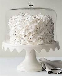 martha stewart cake stand Martha Stewart Collection Serveware, Scalloped Cake Stand with Dome - Serveware - Dining ...