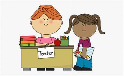 Teacher Clipart Student Talking Child Lunch Cliparts