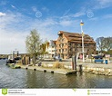 View To Riverside Of Old Village Of Wolgast Editorial ...