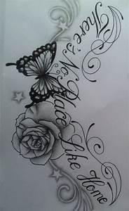 Flower and butterfly tattoo design by tattoosuzette on ...