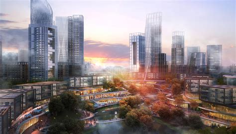 som chongqing tianan ludao  district concept master plan