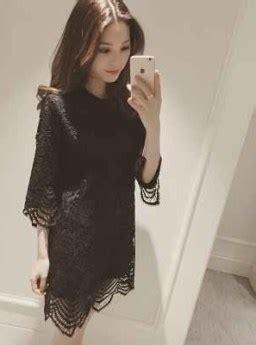 dress brokat hitam cantik  jual model terbaru murah