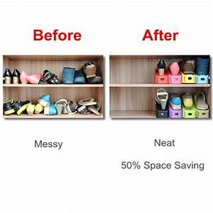 Range Chaussure Magique : lot de 12 ranges chaussures magique organisateur de placard maison fut e ~ Teatrodelosmanantiales.com Idées de Décoration