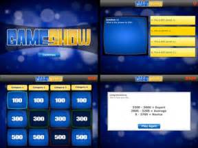 Trivia Game Ppt Template by Quiz Show Template Powerpoint Bolduc Info