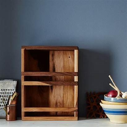 Kitchen Wood Cubby Bath Reclaimed Spice Rack