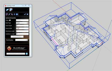 modeling sketchup roofs   click  build edge plan