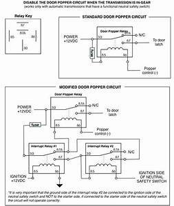 Disabling The Door Popper Circuit When The Transmission Is