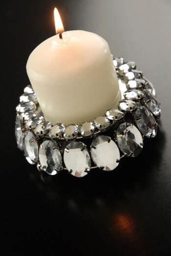 crystal rhinestone  votive candle holder  mirror