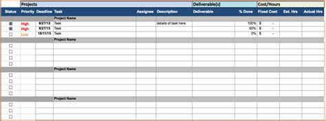 5 project cost tracking spreadsheet excel spreadsheets