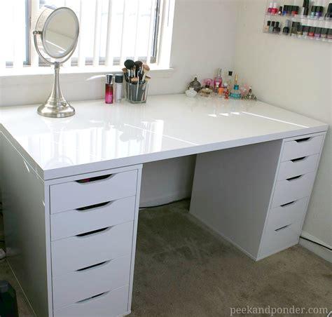 makeup organizer ikea video makeup vanity and storage peek ponder