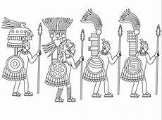 Dibujo de Guerreros Aztecas para colorear Dibujos para