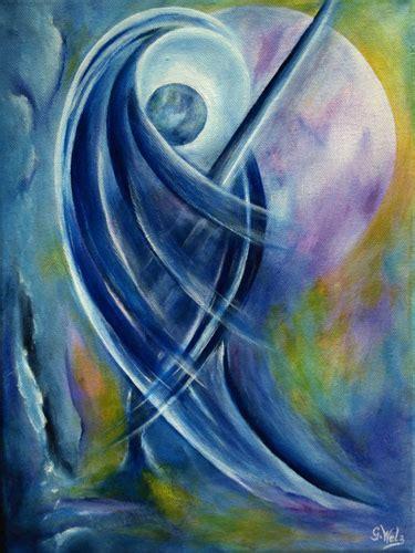 gemalte engelbilder himmlisch auch als kunstdrucke