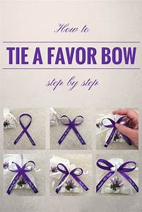 How to tie a perfect bow with favor ribbon. Simple, step ...