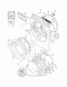 Frigidaire Dryer Front Panel  Lint Filter Parts