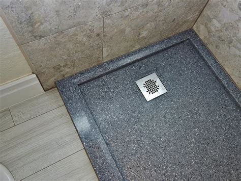 bathroom remodel tile ideas tub to shower conversion with onyx base and porcelain wood