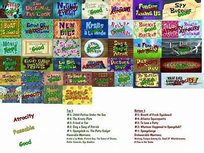 Deviantart Spongebob Season Scoreboard Own Favourites