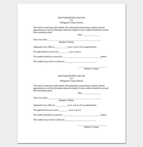 doctor appointment letter  school   format letter