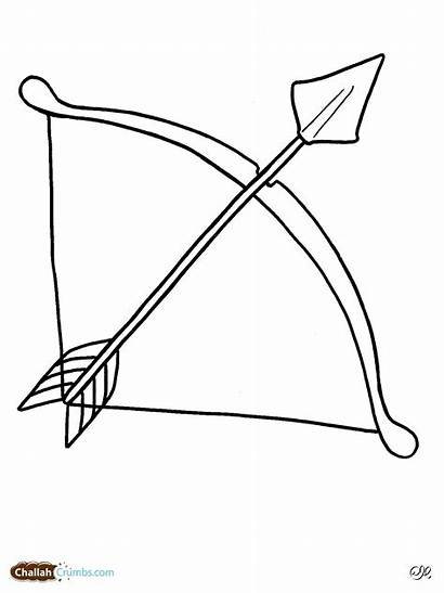 Bow Arrow Coloring Pages Bows Printable Clipart