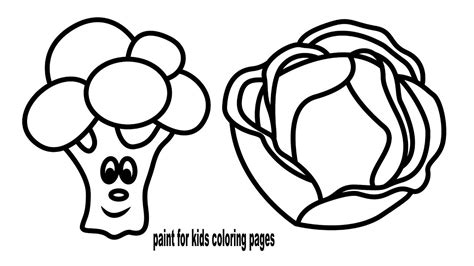 Colouring Pages Vegetables, How To Draw Cabbage, Coloring